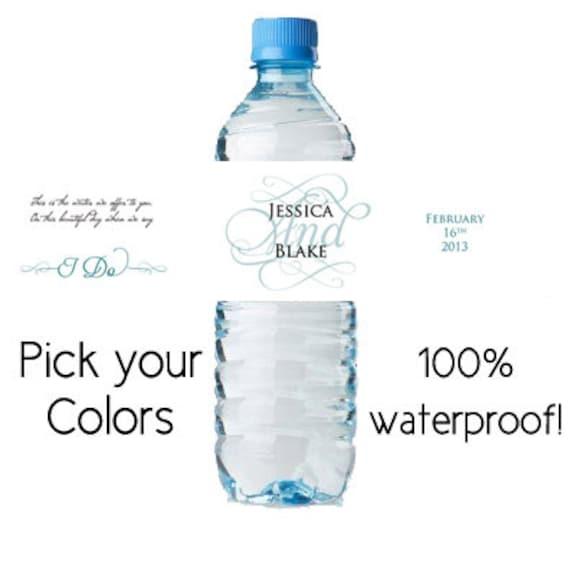 Waterproof Water Bottle Labels Custom Water39 By