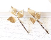 Leaf Branch Bobby Pin Set - Woodland Collection - Whimsical - Nature - Bridal