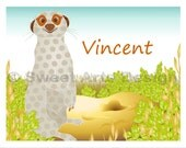 Meerkat  -  Wall Print  (or)  Greeting Cards