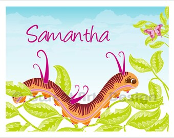 Caterpillar  -  Wall Print  (or)  Greeting Cards