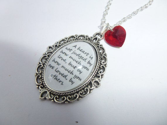 The Wizard Of Oz A Heart Is Not Judged Quote Silver Cameo