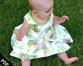 Sew Can Do Reversible Liane Wrap Baby Dress PDF Pattern