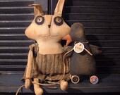 BOGO~HarVey Rabbit N QuacKers the Duck Doll epattern Instant Download