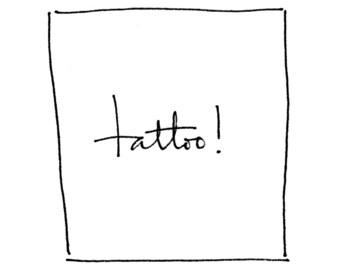 Custom tattoo writing