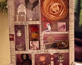Marie Antoinette French-inspired Shadowbox Collage
