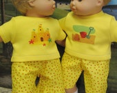 Sandcastle Beachwalker Outfits for Bitty Baby Twins Dolls