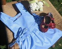 Dorothy Inspired Toddler Girls Pinafore Apron - Costume
