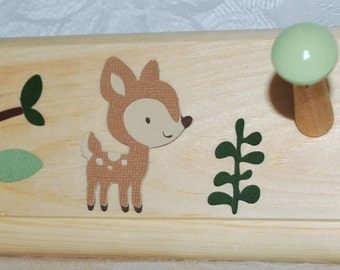 Enchanted Forest Coat Rack . Wall Pegs
