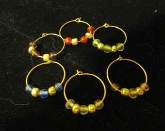 Wine Charms Gold 8