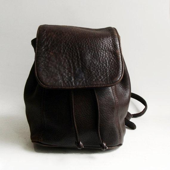 coach bag brown leather book bag 1990s 90s bookbag purse