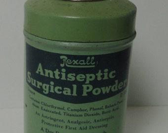 REXALL Antiseptic Surgical Powder. United Drug Co.. Boston-St. Louis. U.S.A
