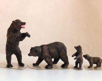 Preiser, HO Scale, Bear, Miniatures, Dioramas