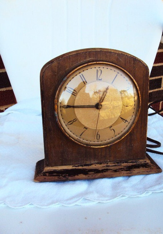 Antique Clock Hammond Clock Co Art Deco Style Bubble Convex