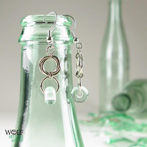 Eco Friendly Earrings Recycled Glass Bead Floret Drop Chandelier Earrings Topo Chico