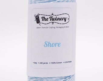 Full Spool - 240 Yards - New Color Shore - Light Blue Baker's Twine