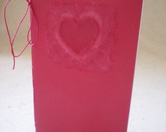 Valentine Love Book - Little Valentine Gift Book with Love Quote by Oscar Wilde for Unconventional Lovers - OOAK Hand Bound Book - MoL