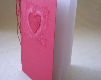 Valentine Love Book - Little Valentine Gift Book with Love Quote by Oscar Wilde for Unconventional or Cerebral Lovers - OOAK Hand Bound Book