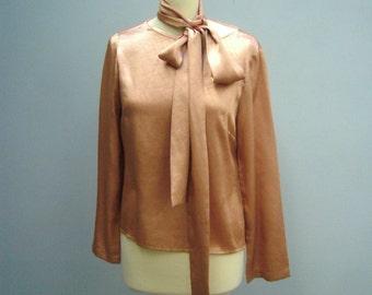 Golden brown vintage shirt