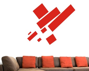 Kazimir Malevich Russian Painter Geometric Abstract Art Avant-garde Suprematist Movement Vinyl Wall Decal Sticker Eight Red Rectangles 8