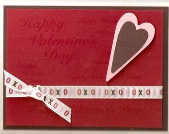 Stamped Handmade Valentine Card