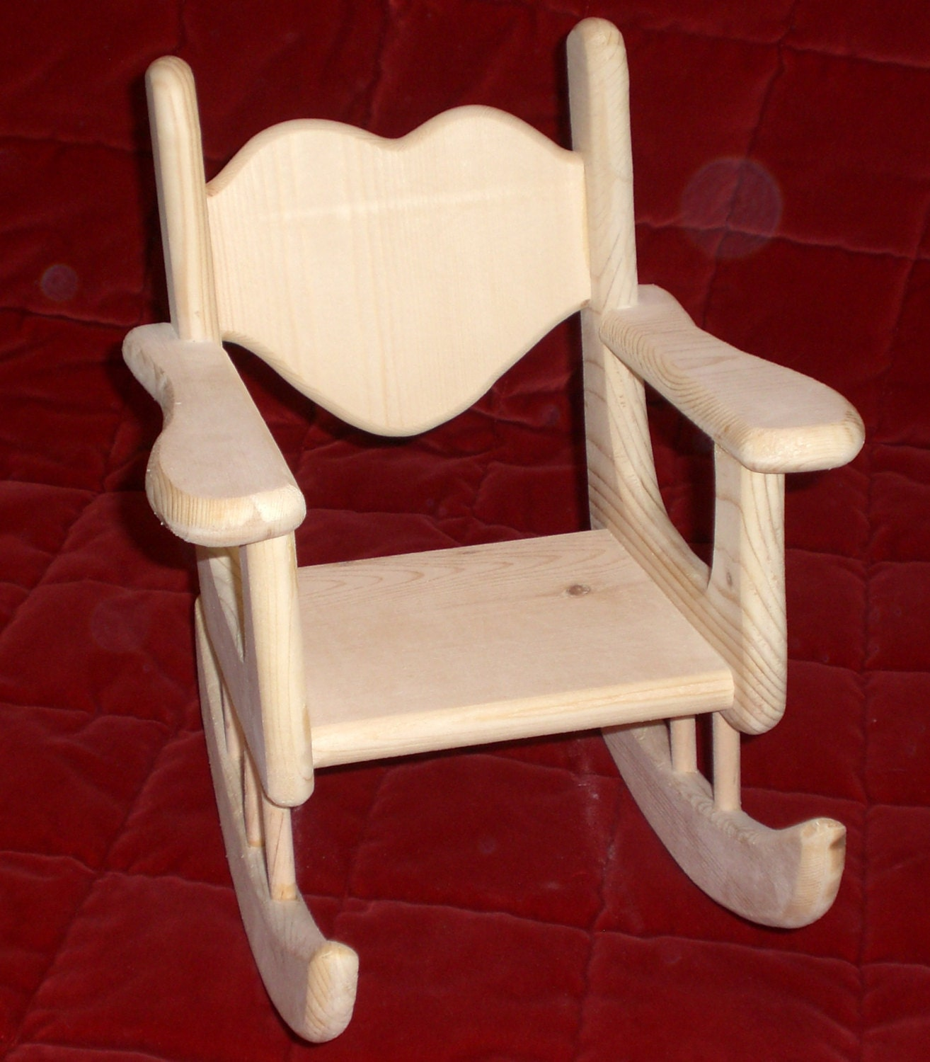 Unfinished Rocking Chair For American Girl Size Doll By Judy