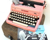 Layaway Payment for Anna-Professionally Serviced PINK 1950s Royal Typewriter and Carry Case and Owners Manual