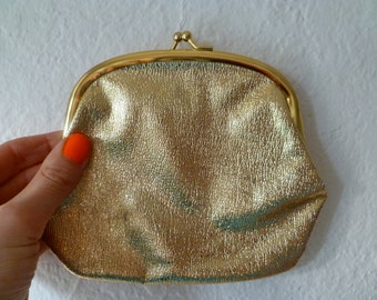 Purse Vintage Coins Change Gold