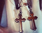 Dogma Gothic Cross Earrings
