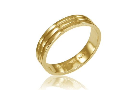 Geometric wedding band 14k wedding ring solid 14k gold for Geometric wedding ring