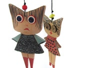 My Japanese Friends - Ceramic dolls--- gift-ceramic Marionette-can be part of a moblie--home decor.Gift under 50 USD