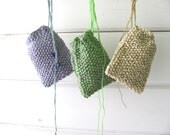 Cell Phone Cozy in Light Green----cotton--an be used as a small bag for jewelry, passport or any other use