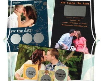 Custom Scratch Off Wedding Save The Date Cards Postcards Custom Design Personalized Scratch-Off ~ DEPOSIT