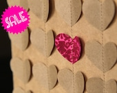SALE sweet heart VALENTINES card - recycled brown