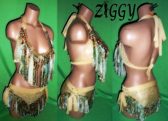 Custom - Sequined and Fringed Bikini