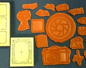 Camera and Photography Terms and  Images -18 Great Rubber Stamps - Cards - Collage - ATC - Scrapbooks - FREE Shipping