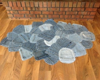 Repurposed Denim Pocket RUG