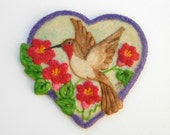 Hummingbird Heart Molded Sugar Cookies Baked Goods