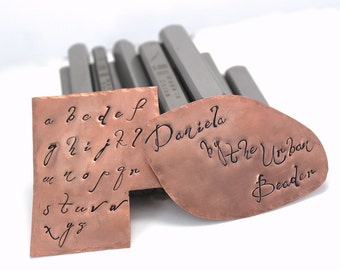 Daniela Font Lowercase Alphabet set for Jewelry stamping