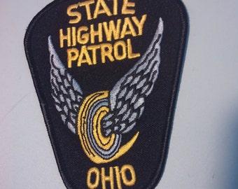 Ohio State Highway Patrol patch embroidered vintage punk boho grunge uniform