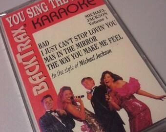 rare Michael Jackson karaoke tape cassette lp 1992 Bad lyric sheet still sealed collectible memorabilia