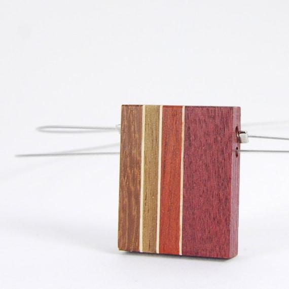 collier en bois  pendentif  collier pour femme  bois recyclé  ~ Collier En Bois Femme