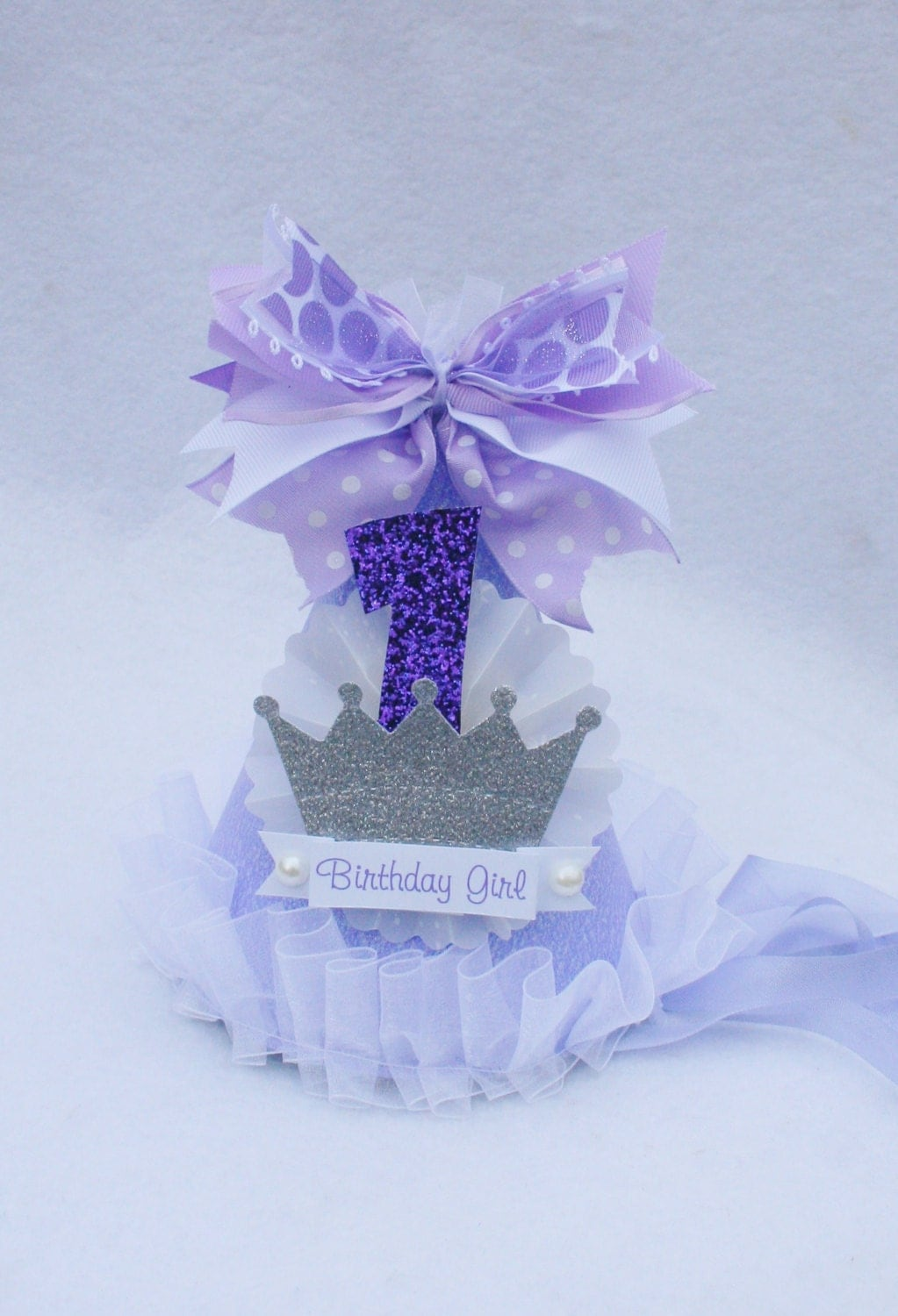 Sofia the first princess birthday party hat by littlepinktractor