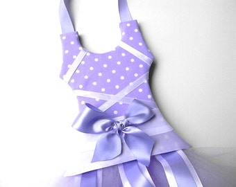 Tutu Hair Bow Holder-Purple Polka Dot Bow Holder-Hair Bow Holder-Ballerina Bow Holder-Ballet Bow Holder-Barrette Holder