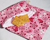 Western Wear Sandwich and Snack Bag Set, Reusable