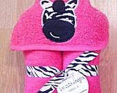 Hooded Towel-Zebra