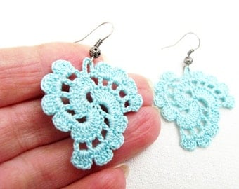 PDF Tutorial Crochet Pattern...Dangle Earrings -20