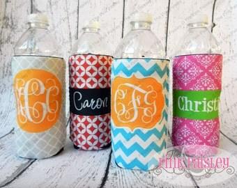 Personalized Bottle Coosie | Monogrammed Koosie Coolie Hugger | Water bottle or Can