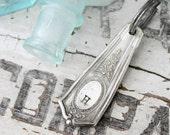 Custom Personalized Monogram Upycled Silver Spoon Key Ring