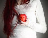 Fairy tale fine art photography, Prophecy, 12x12 art print - apple, surreal, girl - dianadebord
