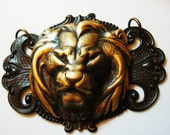 Lions Revenge Necklace Supply, USA Brass Pendant, Metal Bonded, NOT Glued, 2 3/4 Inches Wide